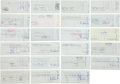 Baseball Collectibles:Others, Baseball Legends Signed Checks Lot of 23....