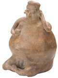 Antiques:Antiquities, Jalisco Corpulent Female Figure...