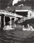 Photographs:20th Century, O. WINSTON LINK (American, 1914-2001). Hawksbill Creek SwimmingHole with No. 96 Northbound, 1956. Gelatin silver, 1987...