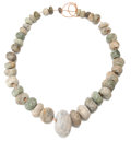 Antiques:Antiquities, Guerrero Green Stone Necklace...