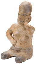 Antiques:Antiquities, Seated Jalisco Female Figure...