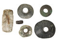 Antiques:Antiquities, A Lot of Six Stone Objects ... (Total: 6 Items)