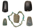 Antiques:Antiquities, Six Fine Celts and a Necklace... (Total: 6 Items)