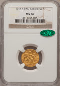 Commemorative Gold: , 1915-S $2 1/2 Panama-Pacific Quarter Eagle MS66 NGC. CAC. NGCCensus: (531/115). PCGS Population (387/20). Mintage: 6,749. ...