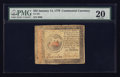 Colonial Notes:Continental Congress Issues, Continental Currency January 14, 1779 $35 PMG Very Fine 20.. ...