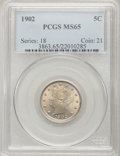Liberty Nickels: , 1902 5C MS65 PCGS. PCGS Population (164/51). NGC Census: (142/35).Mintage: 31,489,580. Numismedia Wsl. Price for problem f...