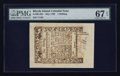 Colonial Notes:Rhode Island, Rhode Island May 1786 1s PMG Superb Gem Unc 67 EPQ.. ...