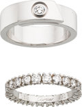 Estate Jewelry:Rings, Diamond, Gold, Platinum Ring Set, Cartier. ...