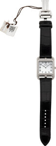 Luxury Accessories:Accessories, Hermes Diamond Cape Cod GM Watch with Crocodile Strap. ...