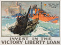 """Military & Patriotic:WWI, Great World War I Home front Poster: """"They Kept the Sea LanesOpen""""...."""