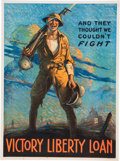"Military & Patriotic:WWI, World War I Home Front Poster: ""And They Thought We Couldn'tFight""...."