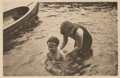 Photographs:20th Century, ALFRED STIEGLITZ (American, 1864-1946). The Swimming Lesson,from Camera Work Vol. 36 Page 41, 1906. Photogravure, 1911...