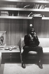 GARRY WINOGRAND (American, 1928-1984) Jackie Robinson at Home in Connecticut, 1961 Gelatin silver, 1