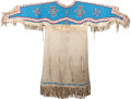 American Indian Art:Beadwork and Quillwork, A SIOUX WOMAN'S BEADED HIDE DRESS. c. 1920...