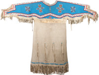 A SIOUX WOMAN'S BEADED HIDE DRESS c. 1920