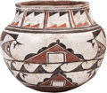 American Indian Art:Pottery, A ZUNI POLYCHROME JAR. c. 1890...