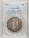 Bust Half Dollars: , 1808/7 50C VF20 PCGS. O-101. PCGS Population (8/156). NGC Census:(3/126). Numismedia Wsl. Price for problem free NGC/PCGS...