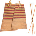 American Indian Art:Pipes, Tools, and Weapons, A PAIR OF PLAINS TIPI BACKRESTS. c. 1900... (Total: 3 Items)
