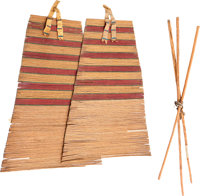A PAIR OF PLAINS TIPI BACKRESTS c. 1900