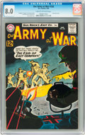 Silver Age (1956-1969):War, Our Army at War #126 (DC, 1963) CGC VF 8.0 Cream to off-white pages....