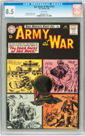Silver Age (1956-1969):War, Our Army at War #127 (DC, 1963) CGC VF+ 8.5 White pages....