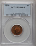 Proof Indian Cents: , 1880 1C PR64 Red and Brown PCGS. PCGS Population (209/78). NGC Census: (86/96). Mintage: 3,955. Numismedia Wsl. Price for p...