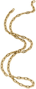Luxury Accessories:Accessories, Hermes 18K Gold Chaine d'Ancre Necklace. ...