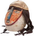 Antiques:Antiquities, A Nazca-Huari Portrait Head with Feathers...