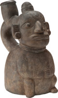 Antiques:Antiquities, Chavin Figural Vessel...