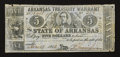 Obsoletes By State:Arkansas, (Little Rock), AR- Arkansas Treasury Warrant $5 Jun. 17, 1863. ...