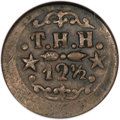 Coins of Hawaii, 1879 12.5C Kahului and Wailuku Railroad 12 1/2 Cents XF40 NGC.Medcalf 2TE-8....