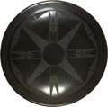 Paintings, A SAN ILDEFONSO BLACKWARE PLATE. Maria Martinez. c. 1930...