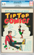 Golden Age (1938-1955):Miscellaneous, Tip Top Comics #10 (United Features Syndicate/Standard, 1937) CGC FN 6.0 Light tan to off-white pages....