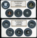 Proof Sets, 2002-S Silver Proof Set PR70 Ultra Cameo NGC. Housed in two large NGC holders.... (Total: 10 coins)