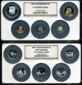 Proof Sets, 2003-S Silver Proof Set PR70 Ultra Cameo NGC. Housed in two large NGC holders.... (Total: 10 coins)