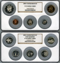 Proof Sets, 2000-S 1C Silver Proof Set PR70 Ultra Cameo NGC. Housed in two large NGC holders.... (Total: 10 coins)