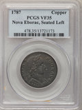 Colonials: , 1787 COPPER Nova Eborac Copper, Seated Left VF35 PCGS. PCGSPopulation (16/51). NGC Census: (1/13). (#478)...