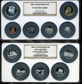 Proof Sets, 2005-S Silver Proof Set PR70 Ultra Cameo NGC. Housed in two large NGC holders.... (Total: 10 coins)