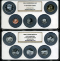 Proof Sets, 2006-S Silver Proof Set PR70 Ultra Cameo NGC. Housed in two large NGC holders.... (Total: 10 coins)