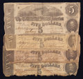Confederate Notes:1862 Issues, T53 $5 1862 Four Examples.. ... (Total: 4 notes)