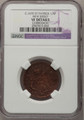 (1670-75) FARTH St. Patrick Farthing--Corrosion--NGC Details. VF. Rare Large Planchet, Breen-208, Whitman-11500.<...