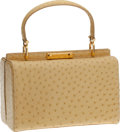 Luxury Accessories:Bags, VBH First Edition #4/300 Bardot Light Yellow Ostrich Lunchbox Bag....