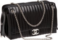 Luxury Accessories:Bags, Chanel Black Lambskin Mademoiselle Jumbo Flap Bag. ...