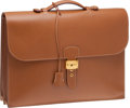 Luxury Accessories:Accessories, Hermes Gold Epsom Leather Sac a Depeches Briefcase. ...
