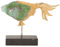 Luxury Accessories:Home, Daum Very Special Eunice Fish by Georges Braque, Retail $24,000.... (Total: 2 Items)