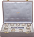 Luxury Accessories:Home, Hermes Sterling Silver Very Rare 12-piece Place Card Holder Set....