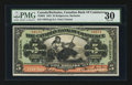 Canadian Currency: , Bridgetown, Barbados- The Canadian Bank of Commerce $5 January 2,1922 Ch # 75-20-04. ...
