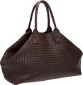 Luxury Accessories:Bags, Bottega Veneta Chocolate Brown Handmade Woven Leather Large Cabat Bag, #69/500. ...