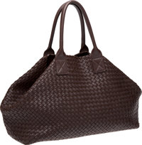 Bottega Veneta Chocolate Brown Handmade Woven Leather Large Cabat Bag, #69/500