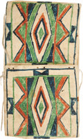 American Indian Art:Pottery, A PLATEAU PAINTED PARFLECHE STORAGE ENVELOPE. c. 1890...